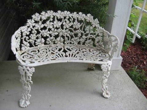 Antique Cast Iron Garden Furniture Part 73