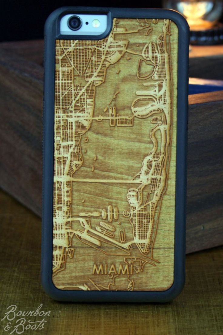 Miami College Town Engraved Cherry Street Map iPhone Case