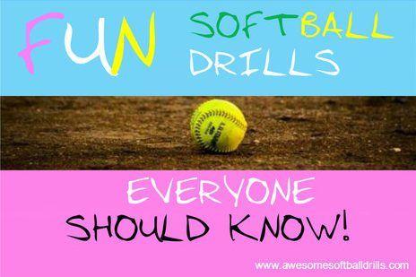 4 FUN Softball Drills every Softball Lovers should know! #softball #softballdrills #funsoftball #softball4life http://www.awesomesoftballdrills.com/fun-softball-drills/