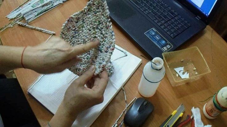 """мк тарелки """" листок"""". четыре способа создания листа, два вида плетения."""