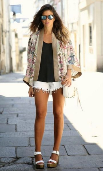 Look: Kimono + Short Desfiado