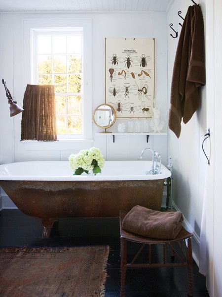 Photo Gallery: Au Naturel Decor | House & Home    Hmmm I have this tub in the basement to paint or not to paint?:
