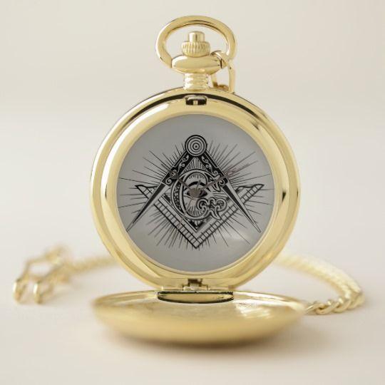 Freemason Symbol Art Pocket Watch