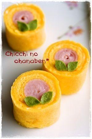 Peach pattern Egg. Tamagiyaki (たまごやき)