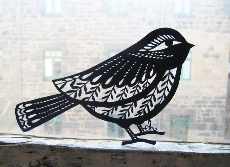 Paper Cut Bird by Emily Hogarth