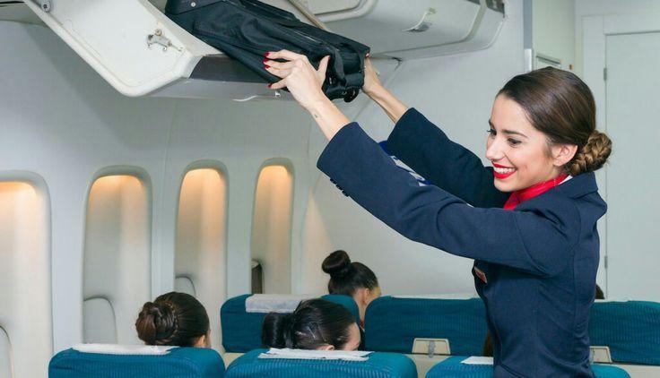 Auxiliar de vuelo.