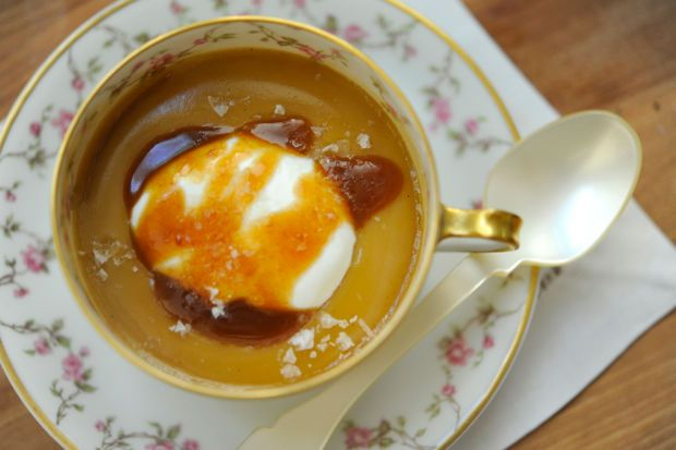 There are a lot of great desserts in L.A., but none of them are quite as special as Gjelina's Butterscotch Pot de Crème (Pizzeria Mozza's Butterscotch Budino is a close second). It's pretty much a weekend staple for me, which is kind of horrifying seeing as I now know just how much butter/heavy cream/crème fraîche is involved. It's an insanely rich butterscotch pudding served with a dollop of whipped crème fraîche, a drizzle of caramel, and finished with a flaky s...