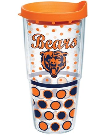 NFL® | Chicago Bears | Polka Dot Wrap with Lid | Tumblers, Mugs, Cups | Tervis