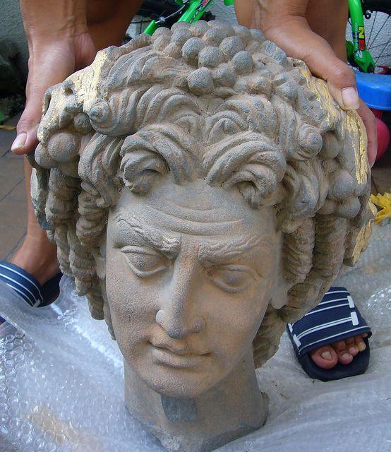 Pakistan,Afghanistan  Buddha  Gandhara  greco bactrian head.