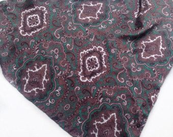 Check out Green Paisley scarf,  Gift for Coworker Birthday Gift Mother in law, Mens Neck scarf, Silk Neck tie, Hip Scarf, Cancer Head Scarf on blingscarves
