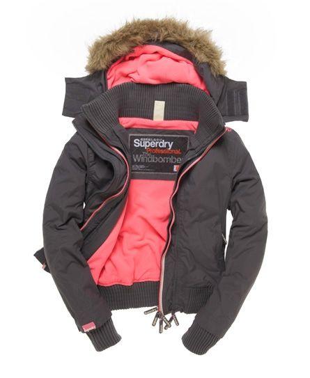Superdry Hooded Fur Windbomber - Women's Jackets & Coats