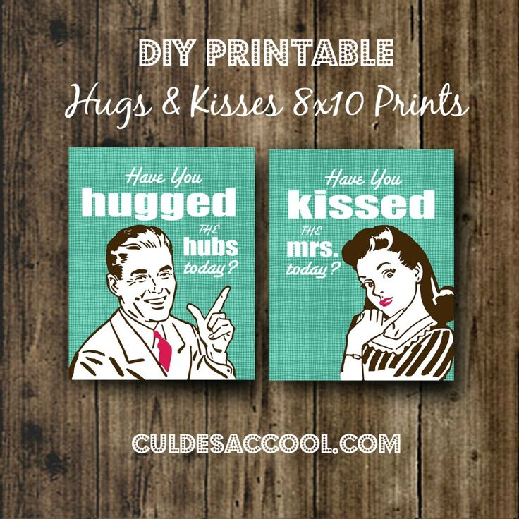 best homemade bridal shower gifts%0A DIY PRINTABLE  FREE  HUGS  u     KISSES       PRINTS   VALENTINE u    S  WEDDING    Bridal  Shower GiftsFree