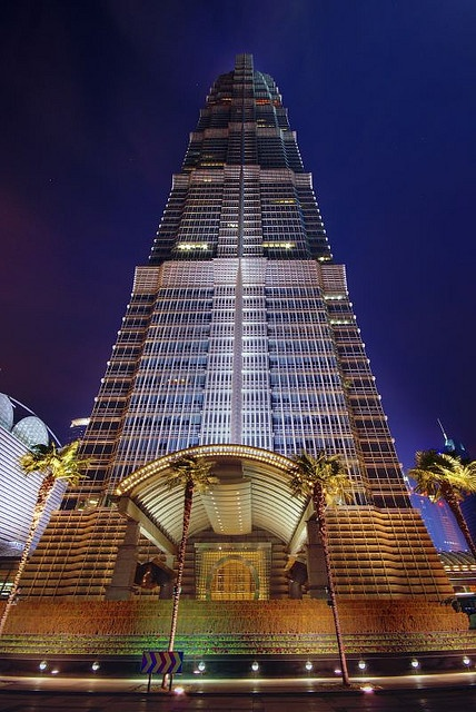 Jin Mao Tower in Shanghai,  China HDR