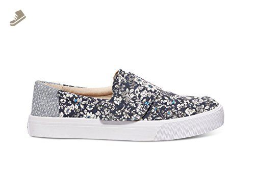 TOMS Women's Altair Slip-On Navy Floral Sneaker 7.5 B (M) - Toms sneakers for women (*Amazon Partner-Link)