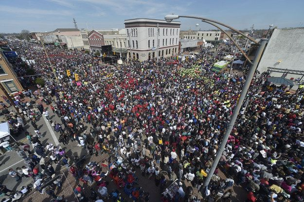 The Selma Times-Journal reported that local police estimated the crowd at more than 70,000.