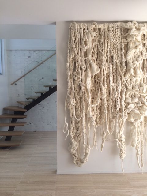 Hanging Wall Decor With Ribbon : Best ideas about wall hangings on diy