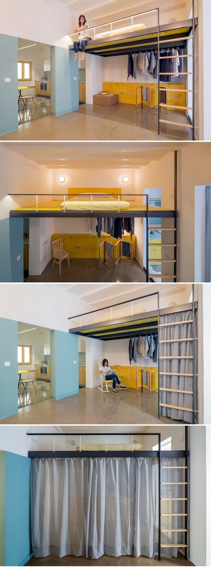 nookarchitects design the interior of a loft apartment in Barcelona