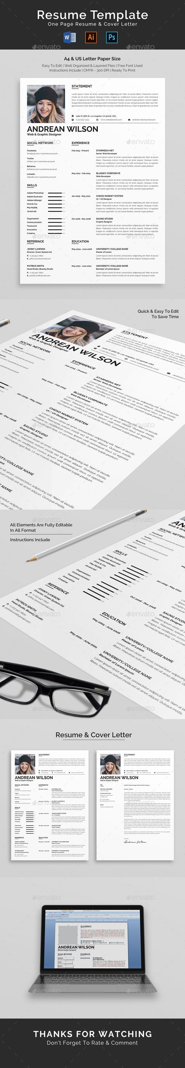 Resume The 26 best Resume Template images