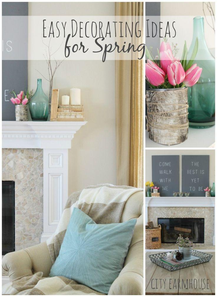 Seasons of Home-Easy Spring Decorating Ideas {City Farmhouse} 1