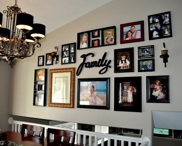 Photo layout idea for the huge wall in the family room