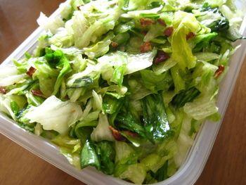 シャキシャキ感を残して、レタスサラダも作り置きが出来ちゃいます。ごま油で食欲が進みます。とっても簡単なレシピなので、定番料理になること間違いありません。
