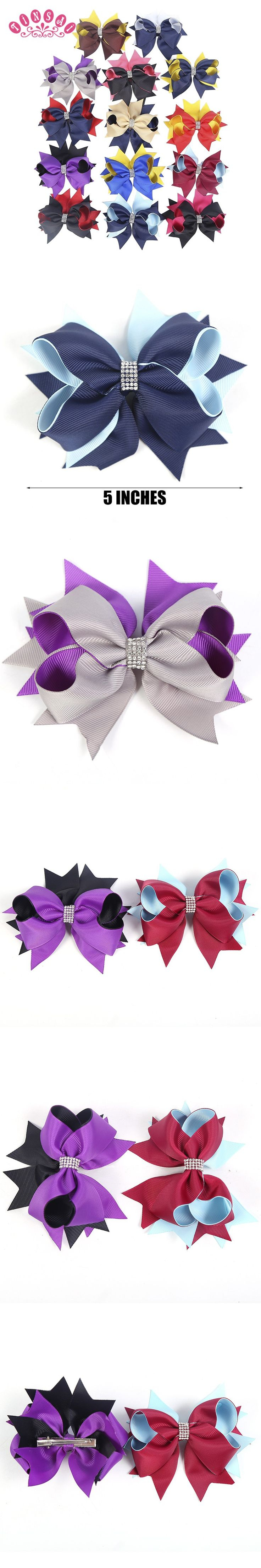 Ha hair accessories for sale - Tinsai 20pc Hair Bows 5 Inch Navy Ribbons Bows Chic Hairpins Children Big Boutique Headband Baby Girl Hair Accessories Wholesale