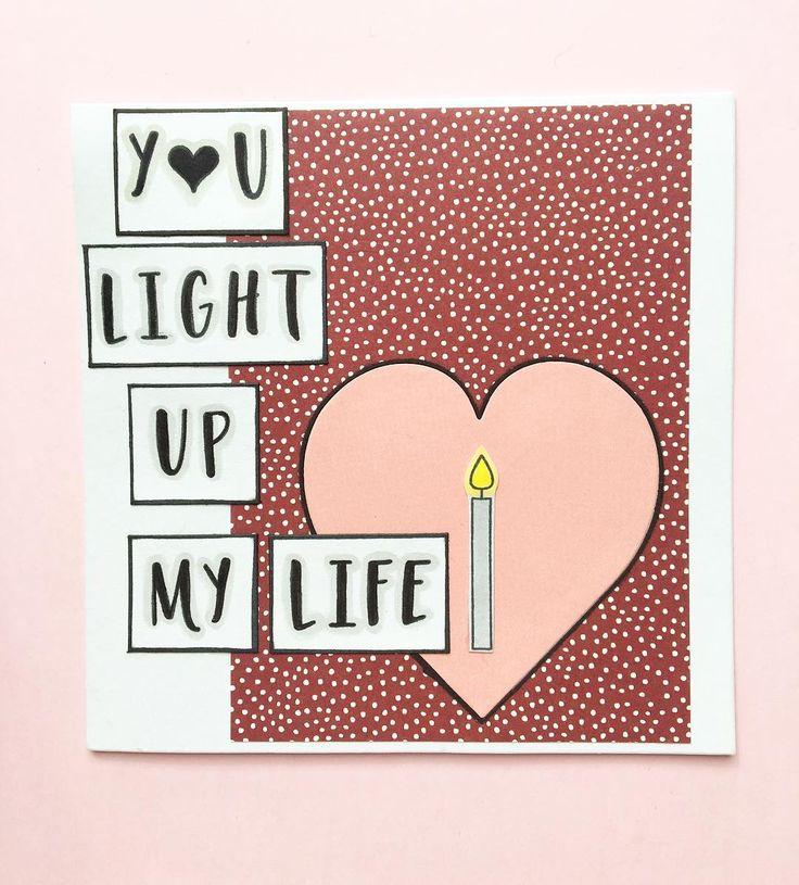 You light up my life🕯Skiv din egen tekst på kortet med bogstaver fra Three scoops.. #threescoopsdk #håndlavet #anjaskort #handcrafted #handmade #handmadecards #handmadecard #cardmaking #scrapbooking #papirhobby #paperart #papercut #papercraft #papercrafting #stempler #clearstamps #paperdesign #papirdesign #personlighilsen  #kortfremstilling #kort #diy #doityourself #kreativ