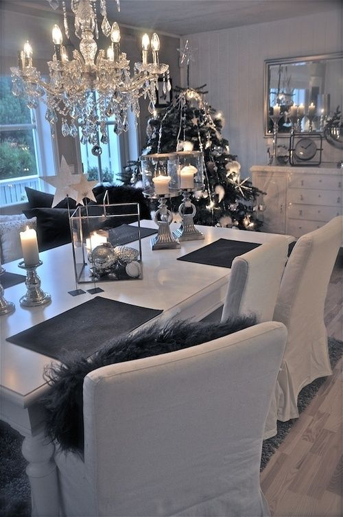 Add silver to your white theme for a cool Christmas effect | Colours of Christmas | Silver