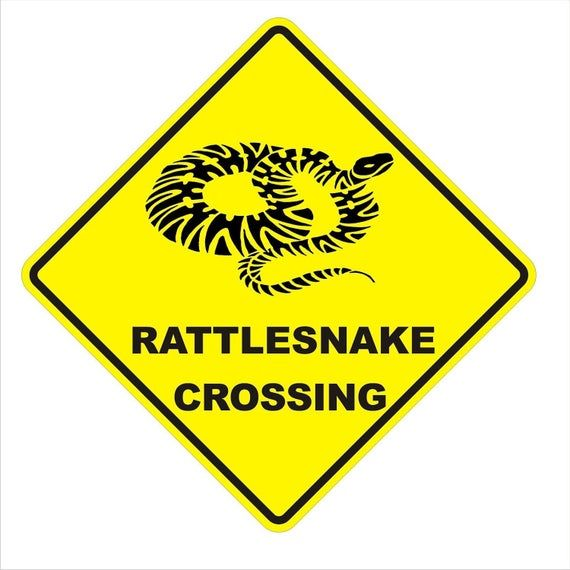Rattlesnake Crossing Caution Fence Yard Sign Caution Yellow 0 40 Guage Aluminum Sign 16 5 Tall Aluminum Signs Yellow Home Accessories Fenced In Yard