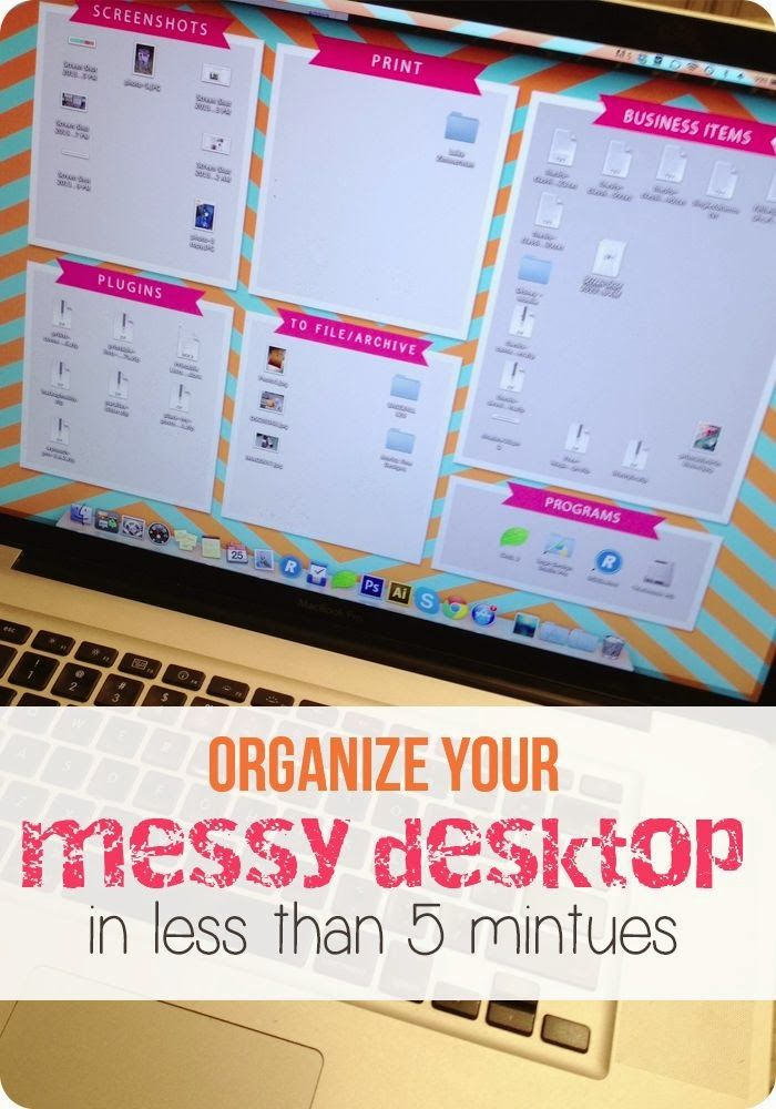 I should have thought of this years ago!!! This.is.amazing!!! Organize Your Desktop 101