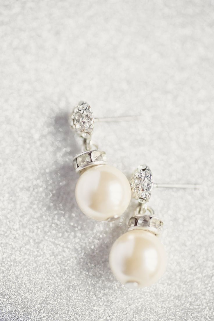 Wedding earrings for Church & Reception…..change to a different longer pair for the evening dinner & dancing to add a little change and come movement to the outfit.