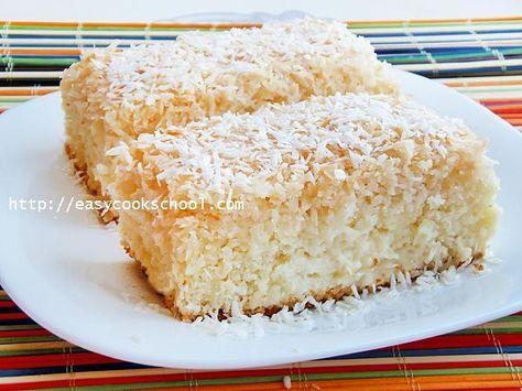 Кокосовый пирог со сливками: рецепт с фото | Легкие рецепты
