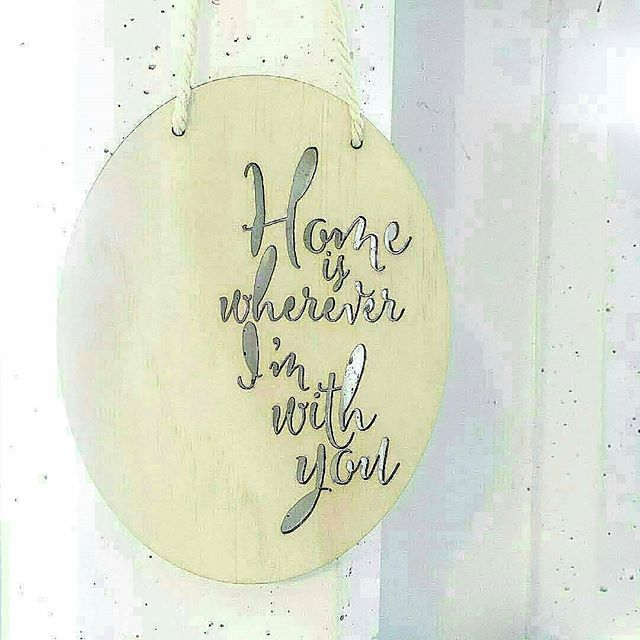LAST ONE - ❇ Home is where ever im with you. Wooden plaque..... ❇ ⚫SHOP ONLINE⚫.... Www.thesecretdoordecor.com⚫  #thesecretdoordecor #homewares #giftware #boutiqueshopping #boutique #new #comingsoon #bigchange #smallbusinessowner #handmadewithlove #halpaustralia #handmadeinaustralia #handmade #luxury #interiordesign #interiorstyling #styling #candles #soycandles #concretepot #concretehomewares #prints #macreme #mis #Regrann #Regrann #Regrann #Regrann