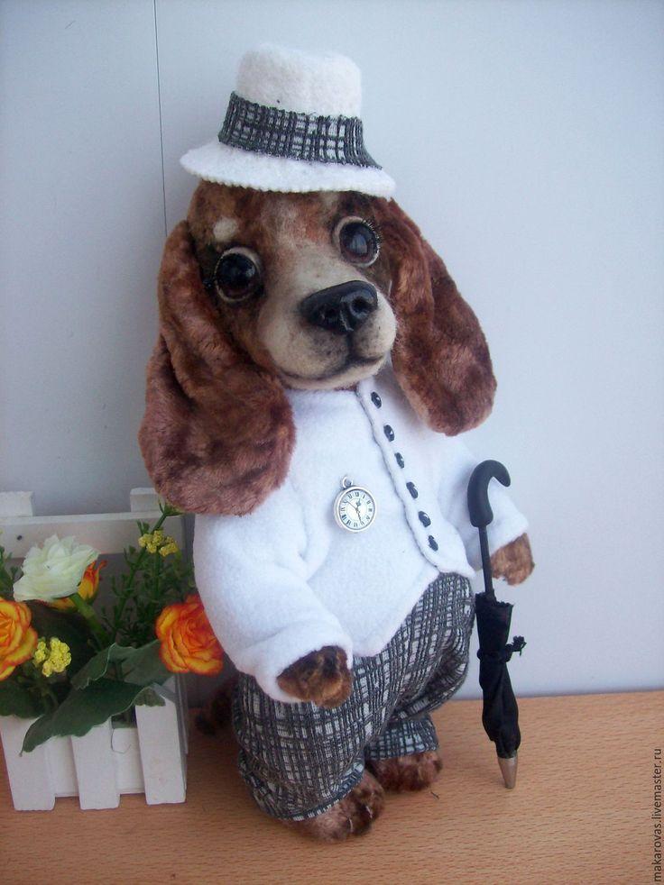 Купить Крис. Такса тедди - коричневый, такса, таксы, собака, собака игрушка, собачка, щенок