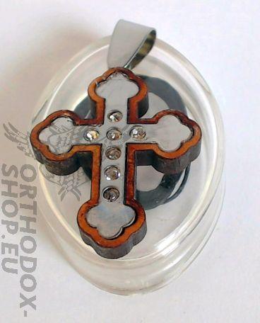 Kruzifix - Kreuzanhänger Holz und Metall, Handarbeit mit christlichen/byzantinischen Motiven. Mit Band zum Umhängen Das Kreuz ist eines der Hauptsinnzeichen des Christentums.