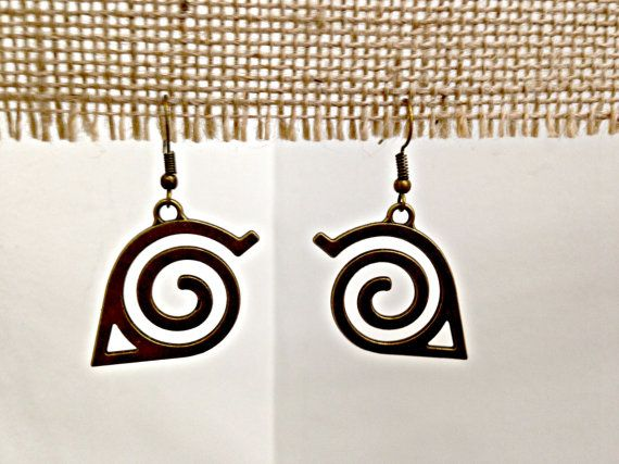 Bronze Spiral Drop Earrings by SCBoutique123 on Etsy