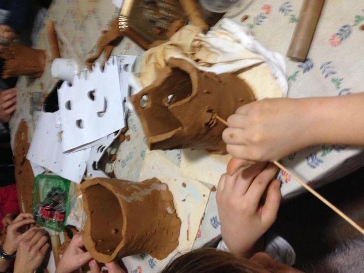 Lanterne in Ceramica fatte dai bambini. A Casa La Mula. http://casalamula.com/
