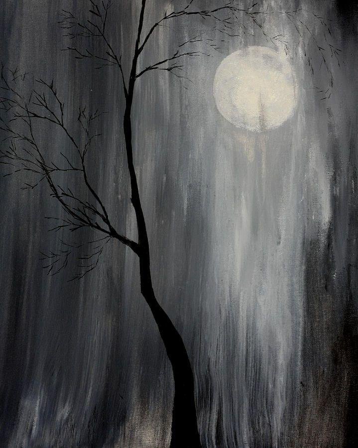 rain paintings | Midnight Rain Painting by Gray Artus - Midnight Rain Fine Art Prints ...