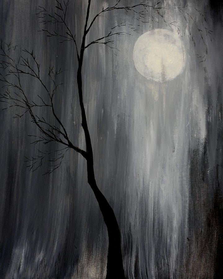 rain paintings | Midnight Rain Painting by Gray Artus - Midnight Rain Fine Art Prints ...