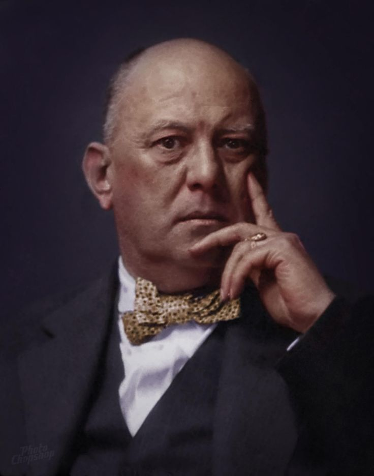 Aleister Crowley Colorized!