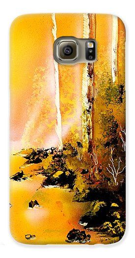 Printed with Fine Art spray painting image Yellow River by Nandor Molnar (When you visit the Shop, change the orientation, background color and image size as you wish)