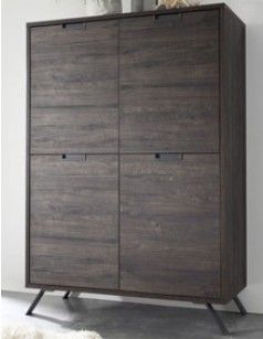 Buffet haut contemporain couleur wengé ALBERTON