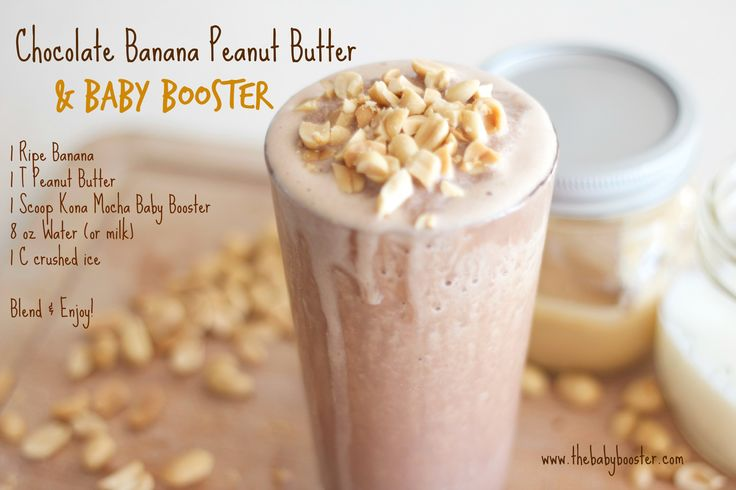 chocolate peanut butter and banana pregnancy protein shake