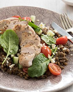 Lunch: Chicken, Lentil and Feta Salad