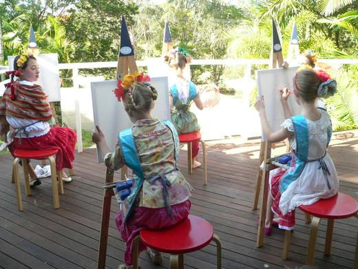 Frida Mexican heritage culture flowers art craft kids girls birthday party... many pictures :)