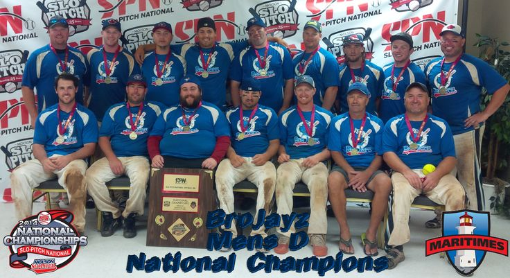 #SPNNationals Moncton Congrats to the Brojayz 2014 Men's D National Champions! #justplayslopitch