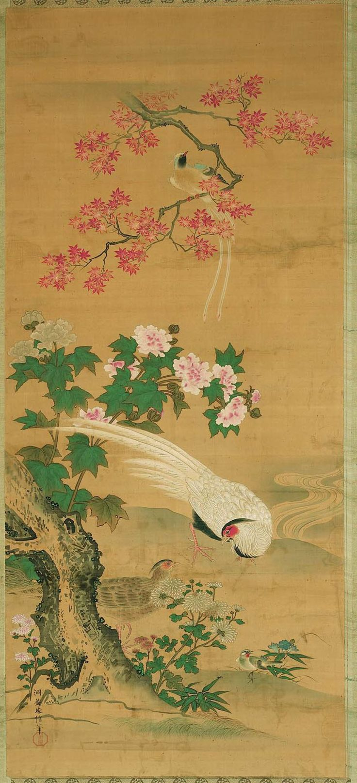 12 best images on pinterest japanese art japanese birds and flowers of the four seasons shiki kacyo zu japanese edo sciox Gallery