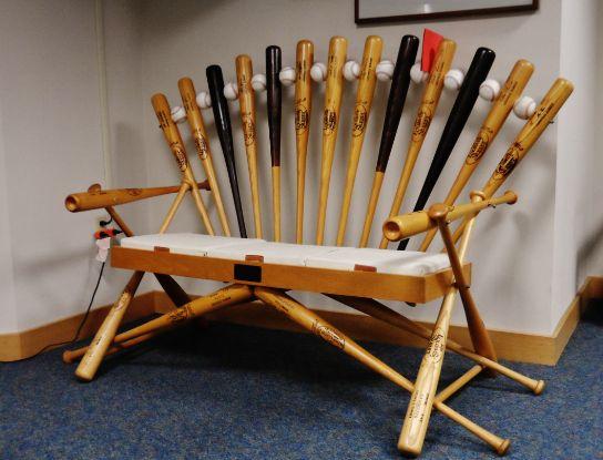 Images Of Baseball Bats | Chair Made Of Baseball Bats | Rare Ordinary  Thoughts