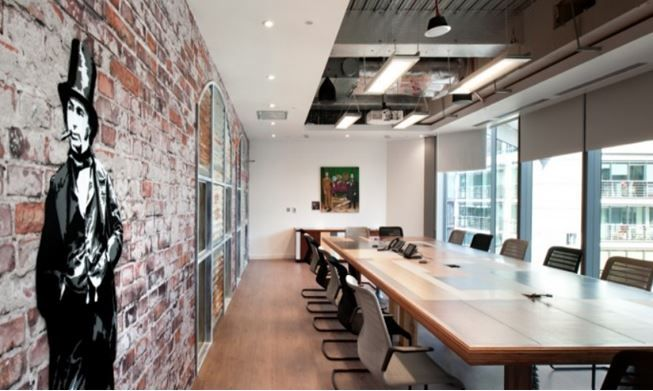 39 best images about office exposed ceiling on pinterest for Funky office designs