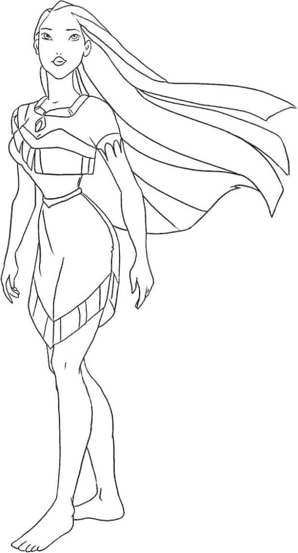 Princess Pocahontas Coloring Pages Princess Coloring Pages